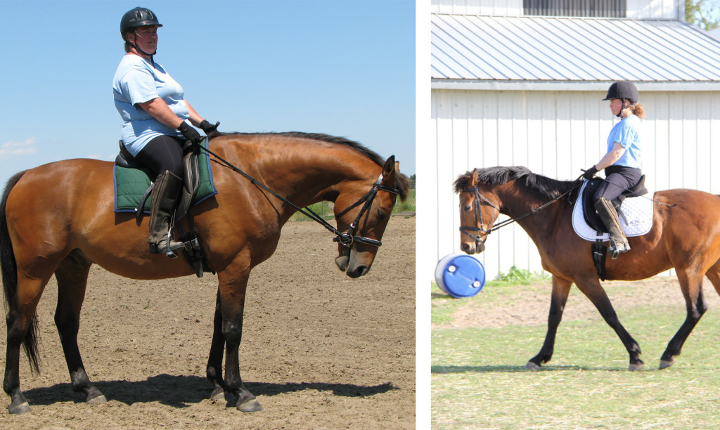 Phil and Valerie before and after - Left July 2011, Right April 2013