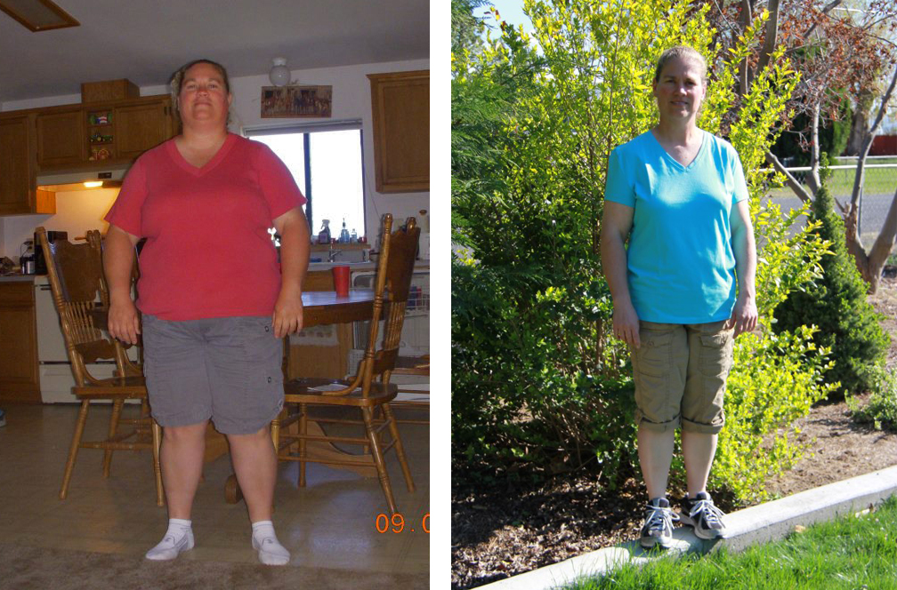 Valerie Before and After - Left is from Aug 2012. Right is from April 2013