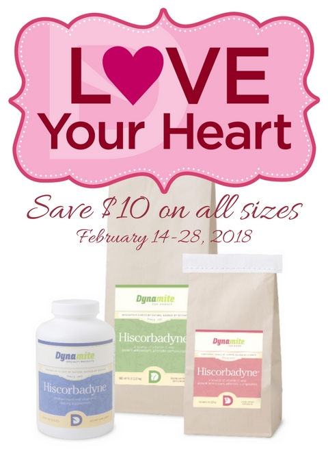 #LoveYourHeart Promotion. Save $10 on all sizes of Hiscorbadyne!